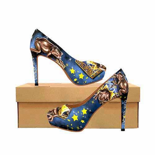 Harry Potter Chocolate Frogs Platform High Heels