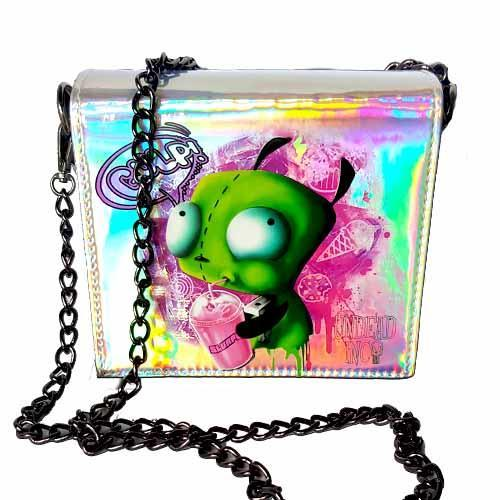 Invader Zim Gir Slurpin Undead Inc Hologram Shoulder Bag With Removable Chain