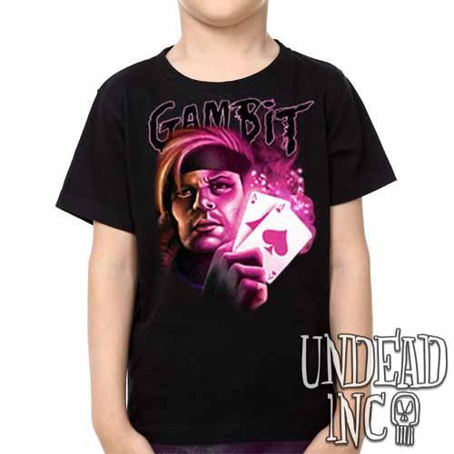 X-men Gambit - Kids Unisex Girls and Boys T shirt Clothing Kids T-shirts Undead Inc