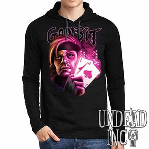 X-men Gambit - Mens Long Sleeve Hooded Shirt