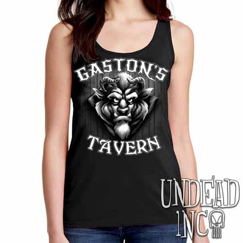 Gaston's Tavern Black & Grey Ladies Singlet Tank