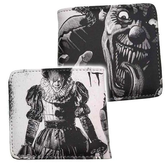 IT Pennywise Black & Grey Horror Wallet