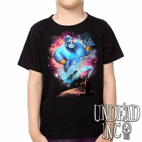 Aladdin Genie Magic Lamp -  Kids Unisex Girls and Boys T shirt Clothing - Undead Inc Kids T-shirts,