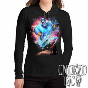 Aladdin Genie - Ladies Long Sleeve Hooded Shirt - Undead Inc Long Sleeve T Shirt,
