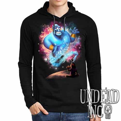 Aladdin Genie - Mens Long Sleeve Hooded Shirt - Undead Inc Long Sleeve T Shirt,
