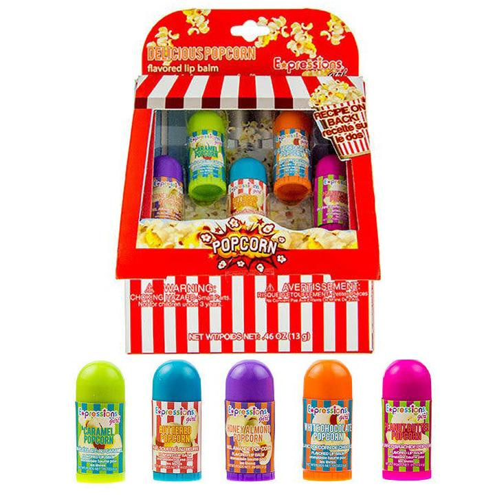 Popcorn Mini Cart Lip Balm Set Lip Balm Cosmetics