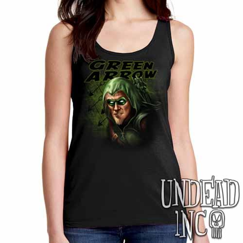 Green Arrow- Ladies Singlet Tank - Undead Inc Ladies Tank Tops,