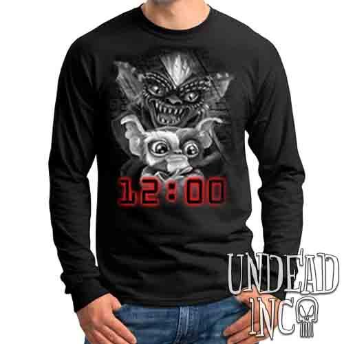 Gremlins Black & Grey - Mens Long Sleeve Tee