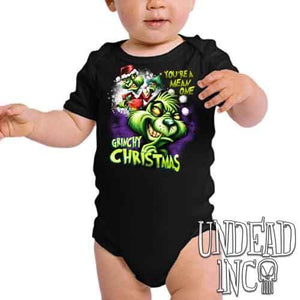"""You're a mean one"" Grinch Christmas - Infant Onesie Romper"