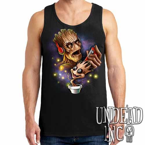 Groot Awesome Mix Tape - Mens Tank Singlet