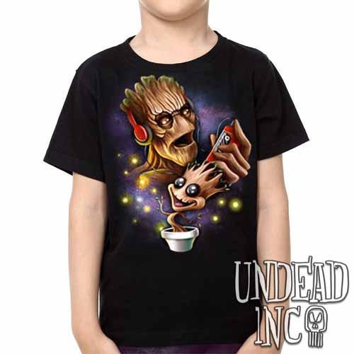 Groot Awesome Mix Tape -  Kids Unisex Girls and Boys T shirt Clothing