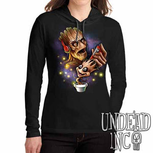 Groot Awesome Mix Tape  - Long Sleeve Hooded Shirt - Undead Inc Long Sleeve T Shirt,