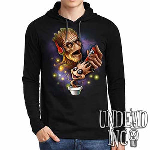 Groot Awesome Mix Tape - Mens Long Sleeve Hooded Shirt - Undead Inc Long Sleeve T Shirt,