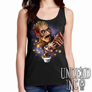 Groot Awesome Mix Tape - Ladies Singlet Tank - Undead Inc Ladies Tank Tops,