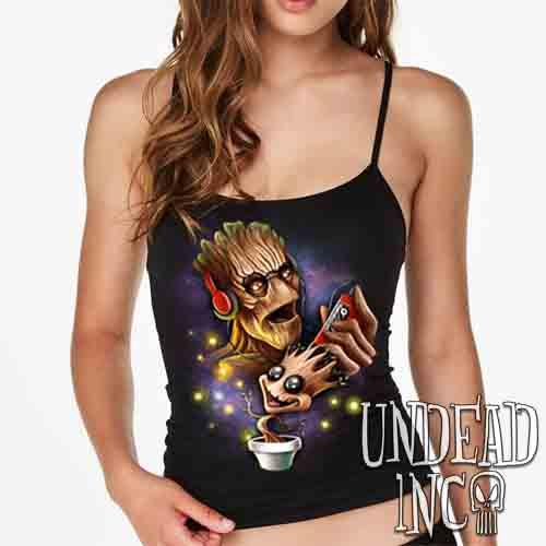 Groot Awesome Mix Tape - Petite Slim Fit Tank