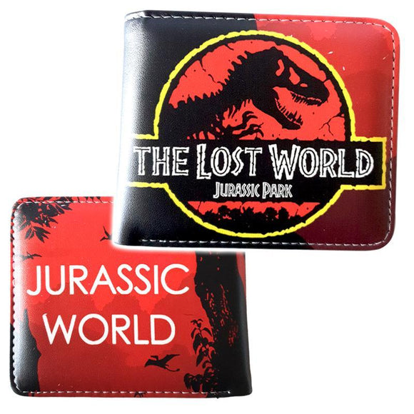 Jurassic Park Lost World Red PU Leather Bifold Wallet