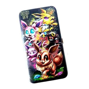 Eevee Evolution Undead Inc Hinge Long Line Wallet