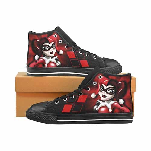 Harley Quinn Men's Classic High Top Canvas Shoes - Undead Inc Men's High Top Canvas,