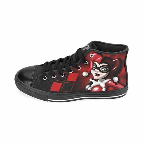 69eb2e59ada0b0 ... Harley Quinn LADIES Classic High Top Canvas Shoes - Undead Inc Women s  High Top Canvas