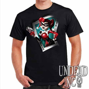 Joker Card Harley Quinn - Mens T Shirt