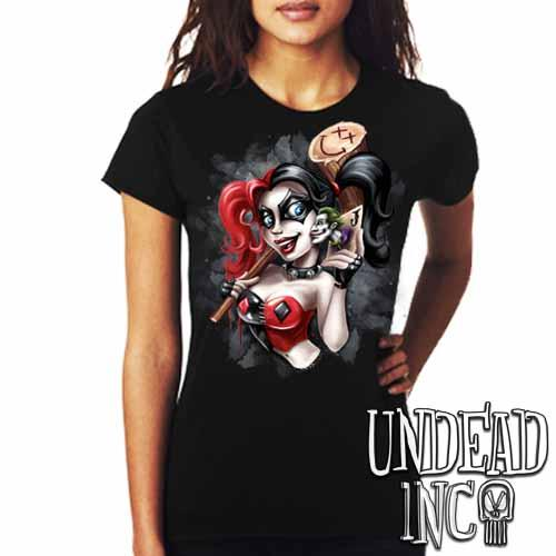 Harley Quinn Joker Kiss - Ladies T Shirt