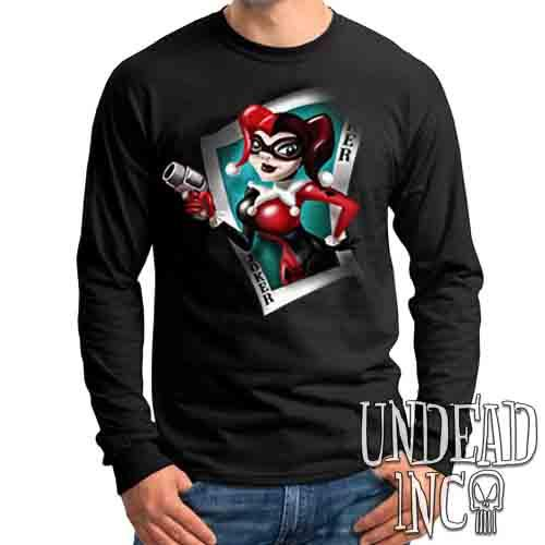 Joker Card Harley Quinn - Mens Long Sleeve Tee