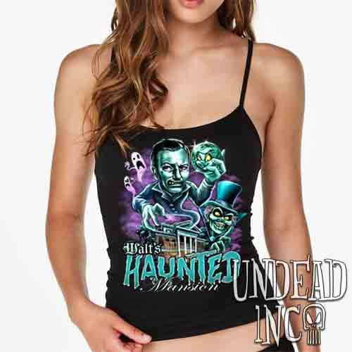 Walt's Haunted Mansion - Petite Slim Fit Tank Petite Slim Fit Tanks Undead Inc