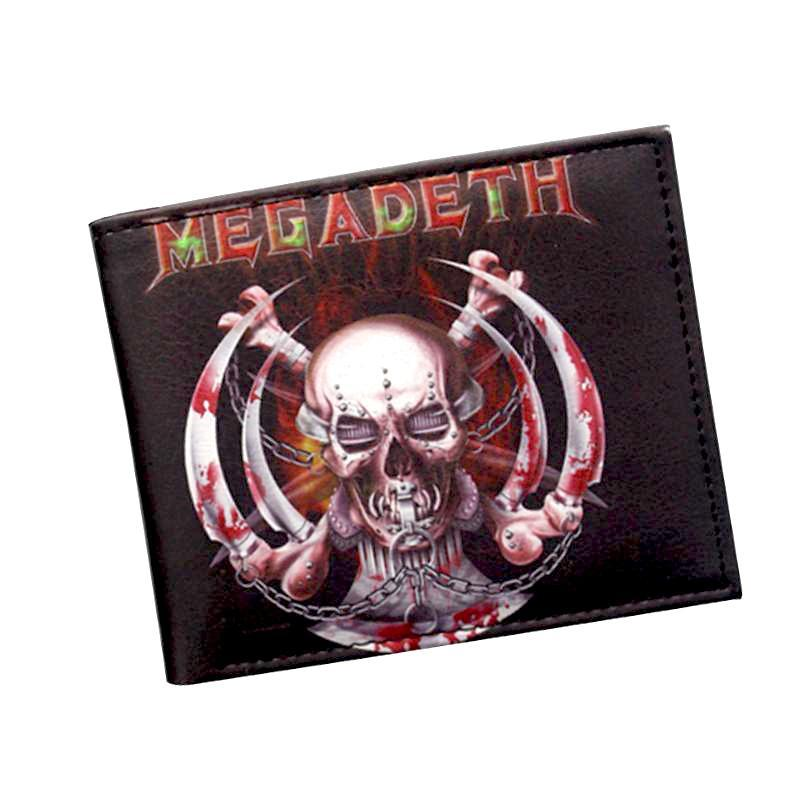 Megadeth Heavy Metal PU Leather Bifold Wallet Wallet Megadeth