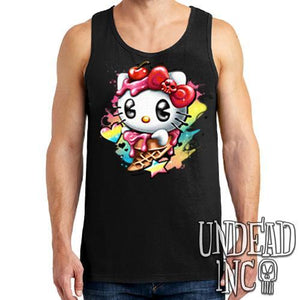 Hello Kitty Cream - Mens Tank Singlet