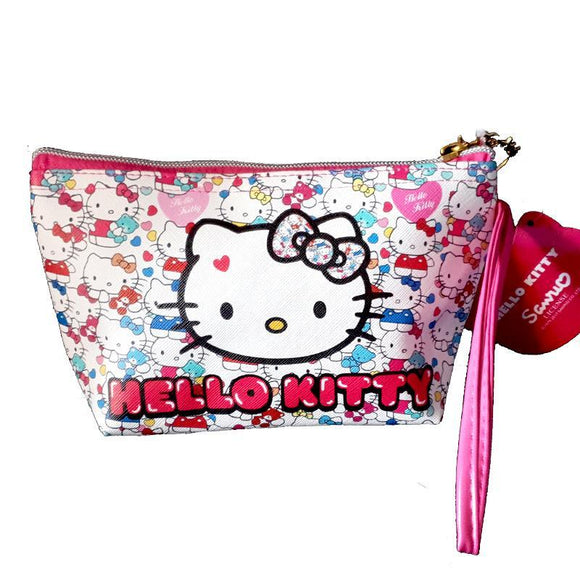 Hello Kitty Bubble Gum Makeup Cosmetics Bag