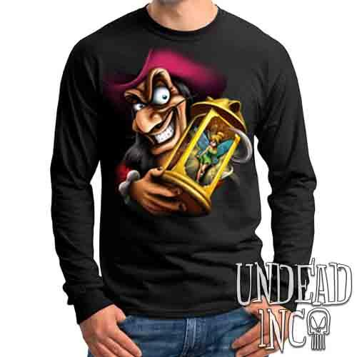Tinkerbell and Captain Hook - Mens Long Sleeve Tee