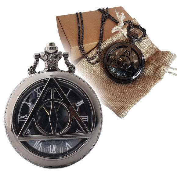 Harry Potter Black Metal Pocket Watch Set - Undead Inc Pocket Watch,