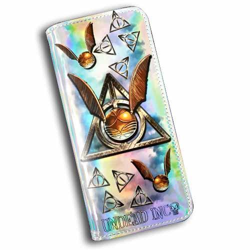 Harry Potter Deathly Snitch Undead Inc Hologram Long Line Wallet Purse