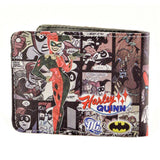 Comic Book Style Harley Quinn PU Leather Bifold Wallet - Undead Inc Wallet,