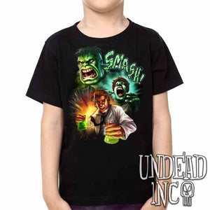 Incredible Hulk Transformation -  Kids Unisex Girls and Boys T shirt Clothing - Undead Inc Kids T-shirts,