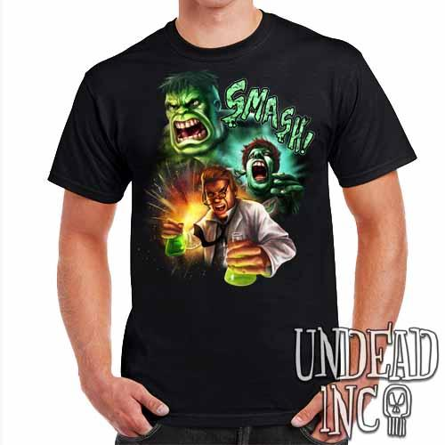 Incredible Hulk Transformation - Mens T Shirt - Undead Inc Mens T-shirts,