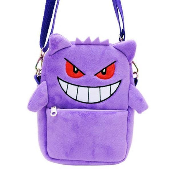 Pokemon Gengar Plush Shoulder Bag