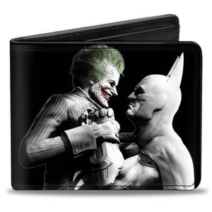 Batman Vs Joker Arkham City Pu Leather Bi-Fold Wallet