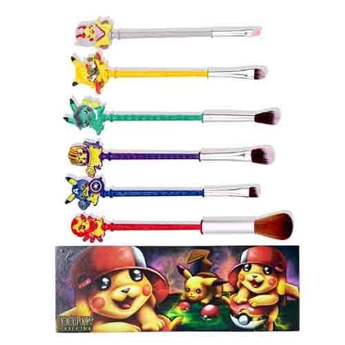 Super Pikachu Undead Inc Collection - Makeup Brush & Holder Set