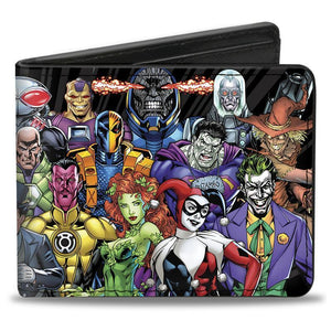 Dc Comics Villains Pu Leather Bi-Fold Wallet