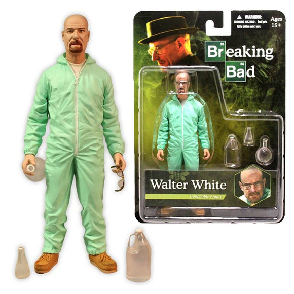 Breaking Bad Walter White Green Haz-Mat Suit Collectable Figure