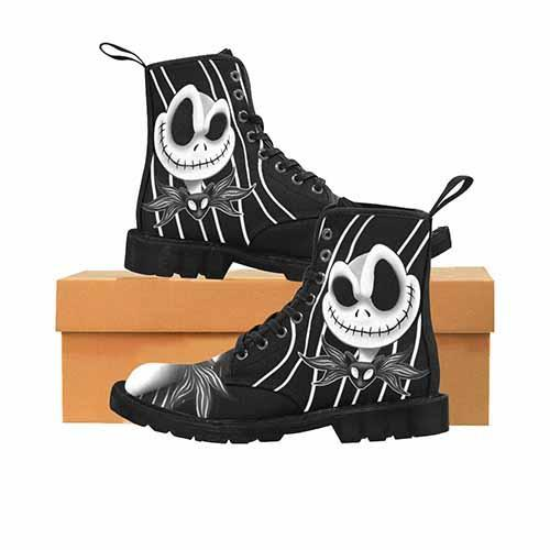 Jack Skellington Nightmare Before Christmas MENS Martin Boots - Undead Inc Mens Boots,