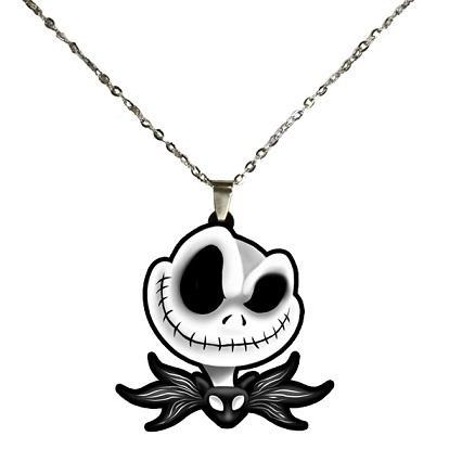 Nightmare Before Christmas Jack Skellington Head STAINLESS STEEL Necklace