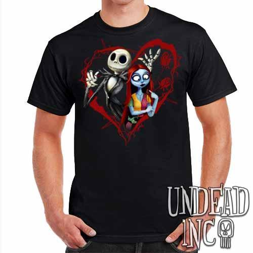 Nightmare Before Christmas Jack and Sally - Mens T Shirt