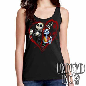Nightmare Before Christmas Jack and Sally - Ladies Singlet Tank