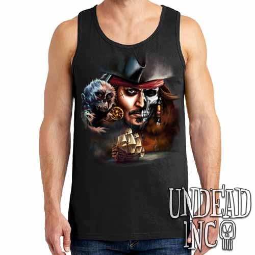 Pirates Of The Caribbean Undead Jack Sparrow - Mens Tank Singlet