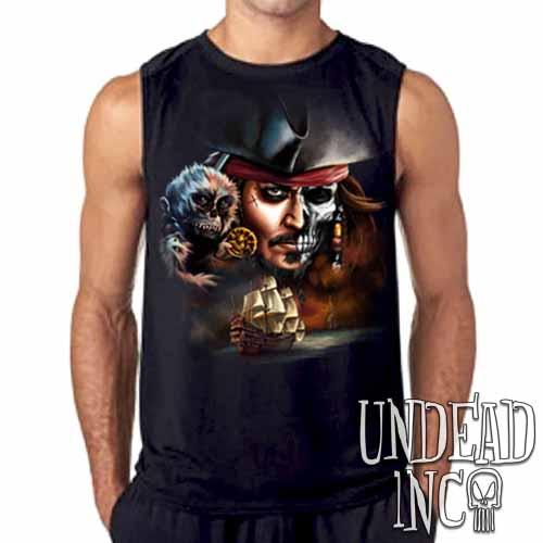 Pirates Of The Caribbean Undead Jack Sparrow Mens Sleeveless Shirt