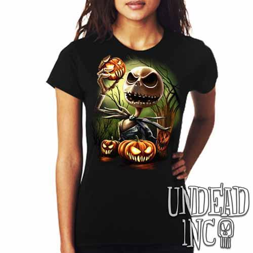 Nightmare Before Christmas Pumpkin King Jack - Ladies T Shirt