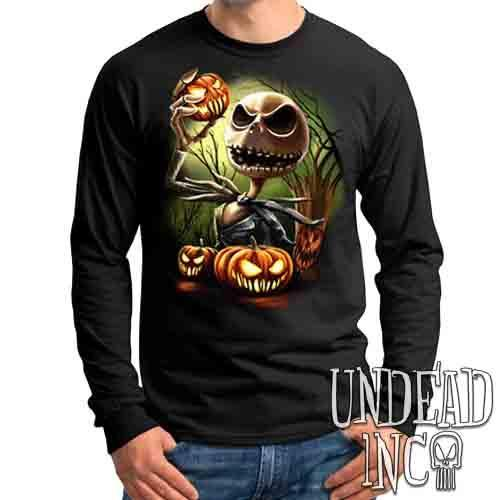 Nightmare Before Christmas Pumpkin King Jack - Mens Long Sleeve Tee