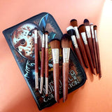 Undead Inc Collection Friday 13 Camp Crystal Lake - Jason Makeup Brush & Case Set